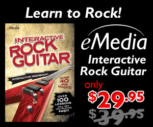 $10 off Interactive Rock Guitar – Learn Rock Guitar the Easy Way by eMedia Music