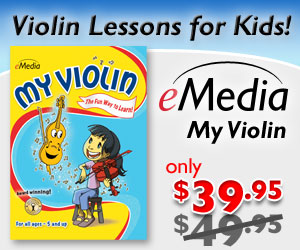 $10 off on the best-selling childrens violin lesson software with fun games and songs! Available as a download for Mac and PC. by eMedia Music