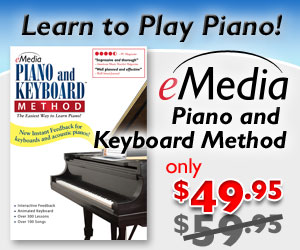 $10 off of Award-Winning eMedia Piano and Keyboard Method Lesson Software by eMedia Music