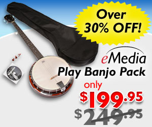 Over 30% off the eMedia Play Banjo Pack with Everything You Need to Learn Banjo by eMedia Music