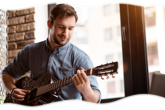 guitarist learning to play