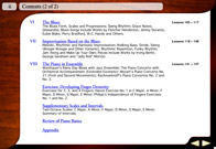 Contents screen