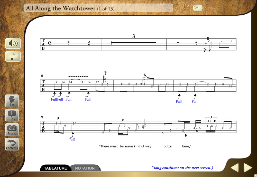 MASTERS OF ROCK GUITAR SOFTWARE - FOR MAC AND PC - ELECTRONIC DOWNLOAD - BEGINNING BASS TITLES ...