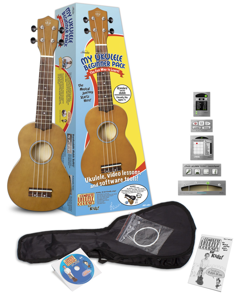 All Kids Need To Play The Ukulele W Instrument And Lessons Dvd Together With How String A Diagram On Note Emedia My Beginner Pack